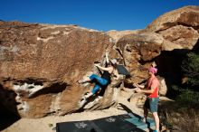 Bouldering in Hueco Tanks on 06/23/2019 with Blue Lizard Climbing and Yoga  Filename: SRM_20190623_0804570.jpg Aperture: f/5.6 Shutter Speed: 1/500 Body: Canon EOS-1D Mark II Lens: Canon EF 16-35mm f/2.8 L