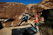 Bouldering in Hueco Tanks on 06/23/2019 with Blue Lizard Climbing and Yoga  Filename: SRM_20190623_0805010.jpg Aperture: f/5.6 Shutter Speed: 1/640 Body: Canon EOS-1D Mark II Lens: Canon EF 16-35mm f/2.8 L
