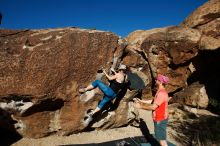 Bouldering in Hueco Tanks on 06/23/2019 with Blue Lizard Climbing and Yoga  Filename: SRM_20190623_0806550.jpg Aperture: f/5.6 Shutter Speed: 1/640 Body: Canon EOS-1D Mark II Lens: Canon EF 16-35mm f/2.8 L