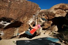 Bouldering in Hueco Tanks on 06/23/2019 with Blue Lizard Climbing and Yoga  Filename: SRM_20190623_0810390.jpg Aperture: f/5.6 Shutter Speed: 1/500 Body: Canon EOS-1D Mark II Lens: Canon EF 16-35mm f/2.8 L