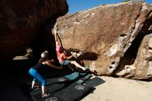 Bouldering in Hueco Tanks on 06/23/2019 with Blue Lizard Climbing and Yoga  Filename: SRM_20190623_0818480.jpg Aperture: f/5.6 Shutter Speed: 1/320 Body: Canon EOS-1D Mark II Lens: Canon EF 16-35mm f/2.8 L