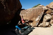 Bouldering in Hueco Tanks on 06/23/2019 with Blue Lizard Climbing and Yoga  Filename: SRM_20190623_0819370.jpg Aperture: f/5.6 Shutter Speed: 1/320 Body: Canon EOS-1D Mark II Lens: Canon EF 16-35mm f/2.8 L