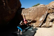 Bouldering in Hueco Tanks on 06/23/2019 with Blue Lizard Climbing and Yoga  Filename: SRM_20190623_0821210.jpg Aperture: f/5.6 Shutter Speed: 1/320 Body: Canon EOS-1D Mark II Lens: Canon EF 16-35mm f/2.8 L