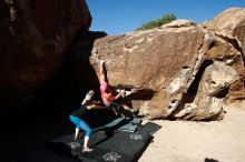 Bouldering in Hueco Tanks on 06/23/2019 with Blue Lizard Climbing and Yoga  Filename: SRM_20190623_0821340.jpg Aperture: f/5.6 Shutter Speed: 1/400 Body: Canon EOS-1D Mark II Lens: Canon EF 16-35mm f/2.8 L