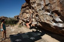 Bouldering in Hueco Tanks on 06/28/2019 with Blue Lizard Climbing and Yoga  Filename: SRM_20190628_0924520.jpg Aperture: f/5.6 Shutter Speed: 1/400 Body: Canon EOS-1D Mark II Lens: Canon EF 16-35mm f/2.8 L
