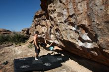 Bouldering in Hueco Tanks on 06/28/2019 with Blue Lizard Climbing and Yoga  Filename: SRM_20190628_0927560.jpg Aperture: f/5.6 Shutter Speed: 1/400 Body: Canon EOS-1D Mark II Lens: Canon EF 16-35mm f/2.8 L