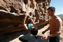 Bouldering in Hueco Tanks on 06/28/2019 with Blue Lizard Climbing and Yoga  Filename: SRM_20190628_0935100.jpg Aperture: f/5.6 Shutter Speed: 1/400 Body: Canon EOS-1D Mark II Lens: Canon EF 16-35mm f/2.8 L