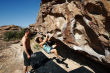 Bouldering in Hueco Tanks on 06/28/2019 with Blue Lizard Climbing and Yoga  Filename: SRM_20190628_0940060.jpg Aperture: f/5.6 Shutter Speed: 1/800 Body: Canon EOS-1D Mark II Lens: Canon EF 16-35mm f/2.8 L