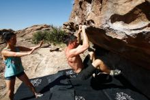 Bouldering in Hueco Tanks on 06/28/2019 with Blue Lizard Climbing and Yoga  Filename: SRM_20190628_0945160.jpg Aperture: f/5.6 Shutter Speed: 1/640 Body: Canon EOS-1D Mark II Lens: Canon EF 16-35mm f/2.8 L