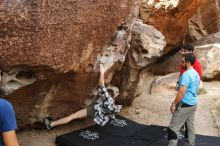 Bouldering in Hueco Tanks on 11/10/2019 with Blue Lizard Climbing and Yoga  Filename: SRM_20191110_1051500.jpg Aperture: f/5.6 Shutter Speed: 1/250 Body: Canon EOS-1D Mark II Lens: Canon EF 16-35mm f/2.8 L