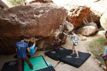 Bouldering in Hueco Tanks on 11/10/2019 with Blue Lizard Climbing and Yoga  Filename: SRM_20191110_1055310.jpg Aperture: f/5.6 Shutter Speed: 1/400 Body: Canon EOS-1D Mark II Lens: Canon EF 16-35mm f/2.8 L