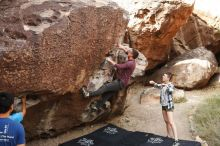 Bouldering in Hueco Tanks on 11/10/2019 with Blue Lizard Climbing and Yoga  Filename: SRM_20191110_1055440.jpg Aperture: f/5.6 Shutter Speed: 1/400 Body: Canon EOS-1D Mark II Lens: Canon EF 16-35mm f/2.8 L
