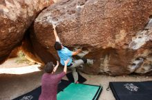 Bouldering in Hueco Tanks on 11/10/2019 with Blue Lizard Climbing and Yoga  Filename: SRM_20191110_1101240.jpg Aperture: f/5.6 Shutter Speed: 1/200 Body: Canon EOS-1D Mark II Lens: Canon EF 16-35mm f/2.8 L