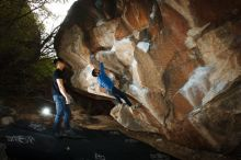 Bouldering in Hueco Tanks on 11/17/2019 with Blue Lizard Climbing and Yoga  Filename: SRM_20191117_1201240.jpg Aperture: f/8.0 Shutter Speed: 1/250 Body: Canon EOS-1D Mark II Lens: Canon EF 16-35mm f/2.8 L