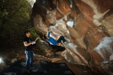 Bouldering in Hueco Tanks on 11/17/2019 with Blue Lizard Climbing and Yoga  Filename: SRM_20191117_1201320.jpg Aperture: f/8.0 Shutter Speed: 1/250 Body: Canon EOS-1D Mark II Lens: Canon EF 16-35mm f/2.8 L