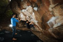 Bouldering in Hueco Tanks on 11/17/2019 with Blue Lizard Climbing and Yoga  Filename: SRM_20191117_1204070.jpg Aperture: f/8.0 Shutter Speed: 1/250 Body: Canon EOS-1D Mark II Lens: Canon EF 16-35mm f/2.8 L
