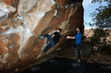 Bouldering in Hueco Tanks on 11/17/2019 with Blue Lizard Climbing and Yoga  Filename: SRM_20191117_1218570.jpg Aperture: f/8.0 Shutter Speed: 1/250 Body: Canon EOS-1D Mark II Lens: Canon EF 16-35mm f/2.8 L