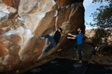 Bouldering in Hueco Tanks on 11/17/2019 with Blue Lizard Climbing and Yoga  Filename: SRM_20191117_1218580.jpg Aperture: f/8.0 Shutter Speed: 1/250 Body: Canon EOS-1D Mark II Lens: Canon EF 16-35mm f/2.8 L