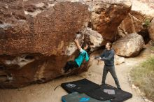 Bouldering in Hueco Tanks on 11/16/2019 with Blue Lizard Climbing and Yoga  Filename: SRM_20191116_1014530.jpg Aperture: f/5.6 Shutter Speed: 1/320 Body: Canon EOS-1D Mark II Lens: Canon EF 16-35mm f/2.8 L