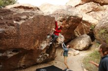 Bouldering in Hueco Tanks on 11/16/2019 with Blue Lizard Climbing and Yoga  Filename: SRM_20191116_1016580.jpg Aperture: f/5.6 Shutter Speed: 1/400 Body: Canon EOS-1D Mark II Lens: Canon EF 16-35mm f/2.8 L