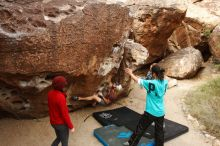 Bouldering in Hueco Tanks on 11/16/2019 with Blue Lizard Climbing and Yoga  Filename: SRM_20191116_1018430.jpg Aperture: f/5.6 Shutter Speed: 1/320 Body: Canon EOS-1D Mark II Lens: Canon EF 16-35mm f/2.8 L