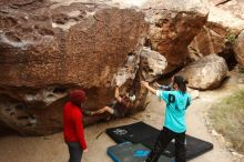 Bouldering in Hueco Tanks on 11/16/2019 with Blue Lizard Climbing and Yoga  Filename: SRM_20191116_1018450.jpg Aperture: f/5.6 Shutter Speed: 1/320 Body: Canon EOS-1D Mark II Lens: Canon EF 16-35mm f/2.8 L