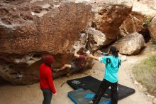 Bouldering in Hueco Tanks on 11/16/2019 with Blue Lizard Climbing and Yoga  Filename: SRM_20191116_1018470.jpg Aperture: f/5.6 Shutter Speed: 1/320 Body: Canon EOS-1D Mark II Lens: Canon EF 16-35mm f/2.8 L