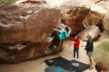 Bouldering in Hueco Tanks on 11/16/2019 with Blue Lizard Climbing and Yoga  Filename: SRM_20191116_1020320.jpg Aperture: f/5.6 Shutter Speed: 1/320 Body: Canon EOS-1D Mark II Lens: Canon EF 16-35mm f/2.8 L