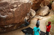 Bouldering in Hueco Tanks on 11/16/2019 with Blue Lizard Climbing and Yoga  Filename: SRM_20191116_1023460.jpg Aperture: f/5.6 Shutter Speed: 1/500 Body: Canon EOS-1D Mark II Lens: Canon EF 16-35mm f/2.8 L