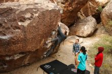 Bouldering in Hueco Tanks on 11/16/2019 with Blue Lizard Climbing and Yoga  Filename: SRM_20191116_1024060.jpg Aperture: f/5.6 Shutter Speed: 1/500 Body: Canon EOS-1D Mark II Lens: Canon EF 16-35mm f/2.8 L