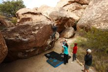 Bouldering in Hueco Tanks on 11/16/2019 with Blue Lizard Climbing and Yoga  Filename: SRM_20191116_1024230.jpg Aperture: f/5.6 Shutter Speed: 1/640 Body: Canon EOS-1D Mark II Lens: Canon EF 16-35mm f/2.8 L