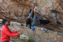 Bouldering in Hueco Tanks on 11/24/2019 with Blue Lizard Climbing and Yoga  Filename: SRM_20191124_1007360.jpg Aperture: f/5.6 Shutter Speed: 1/250 Body: Canon EOS-1D Mark II Lens: Canon EF 50mm f/1.8 II