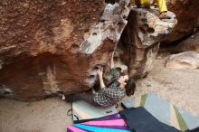 Bouldering in Hueco Tanks on 11/25/2019 with Blue Lizard Climbing and Yoga  Filename: SRM_20191125_1057230.jpg Aperture: f/4.5 Shutter Speed: 1/800 Body: Canon EOS-1D Mark II Lens: Canon EF 16-35mm f/2.8 L