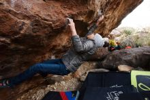 Bouldering in Hueco Tanks on 11/26/2019 with Blue Lizard Climbing and Yoga  Filename: SRM_20191126_1042440.jpg Aperture: f/4.0 Shutter Speed: 1/250 Body: Canon EOS-1D Mark II Lens: Canon EF 16-35mm f/2.8 L