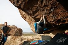 Bouldering in Hueco Tanks on 11/27/2019 with Blue Lizard Climbing and Yoga  Filename: SRM_20191127_0957090.jpg Aperture: f/8.0 Shutter Speed: 1/250 Body: Canon EOS-1D Mark II Lens: Canon EF 16-35mm f/2.8 L