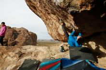 Bouldering in Hueco Tanks on 11/27/2019 with Blue Lizard Climbing and Yoga  Filename: SRM_20191127_0958480.jpg Aperture: f/9.0 Shutter Speed: 1/250 Body: Canon EOS-1D Mark II Lens: Canon EF 16-35mm f/2.8 L