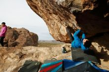 Bouldering in Hueco Tanks on 11/27/2019 with Blue Lizard Climbing and Yoga  Filename: SRM_20191127_0958490.jpg Aperture: f/9.0 Shutter Speed: 1/250 Body: Canon EOS-1D Mark II Lens: Canon EF 16-35mm f/2.8 L