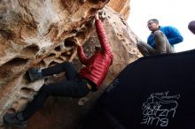 Bouldering in Hueco Tanks on 11/30/2019 with Blue Lizard Climbing and Yoga  Filename: SRM_20191130_1015000.jpg Aperture: f/5.6 Shutter Speed: 1/250 Body: Canon EOS-1D Mark II Lens: Canon EF 16-35mm f/2.8 L