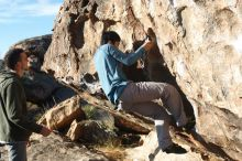 Bouldering in Hueco Tanks on 12/16/2019 with Blue Lizard Climbing and Yoga  Filename: SRM_20191216_1006510.jpg Aperture: f/4.0 Shutter Speed: 1/320 Body: Canon EOS-1D Mark II Lens: Canon EF 50mm f/1.8 II