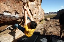 Bouldering in Hueco Tanks on 12/16/2019 with Blue Lizard Climbing and Yoga  Filename: SRM_20191216_1011250.jpg Aperture: f/8.0 Shutter Speed: 1/320 Body: Canon EOS-1D Mark II Lens: Canon EF 16-35mm f/2.8 L