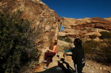 Bouldering in Hueco Tanks on 12/19/2019 with Blue Lizard Climbing and Yoga  Filename: SRM_20191219_1039030.jpg Aperture: f/7.1 Shutter Speed: 1/640 Body: Canon EOS-1D Mark II Lens: Canon EF 16-35mm f/2.8 L