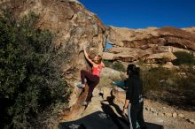 Bouldering in Hueco Tanks on 12/19/2019 with Blue Lizard Climbing and Yoga  Filename: SRM_20191219_1039070.jpg Aperture: f/7.1 Shutter Speed: 1/640 Body: Canon EOS-1D Mark II Lens: Canon EF 16-35mm f/2.8 L
