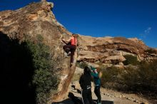 Bouldering in Hueco Tanks on 12/19/2019 with Blue Lizard Climbing and Yoga  Filename: SRM_20191219_1039260.jpg Aperture: f/7.1 Shutter Speed: 1/640 Body: Canon EOS-1D Mark II Lens: Canon EF 16-35mm f/2.8 L