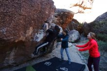 Bouldering in Hueco Tanks on 12/19/2019 with Blue Lizard Climbing and Yoga  Filename: SRM_20191219_1046090.jpg Aperture: f/4.5 Shutter Speed: 1/250 Body: Canon EOS-1D Mark II Lens: Canon EF 16-35mm f/2.8 L