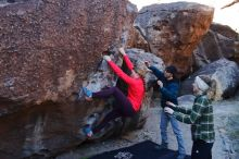 Bouldering in Hueco Tanks on 12/19/2019 with Blue Lizard Climbing and Yoga  Filename: SRM_20191219_1046460.jpg Aperture: f/4.5 Shutter Speed: 1/250 Body: Canon EOS-1D Mark II Lens: Canon EF 16-35mm f/2.8 L