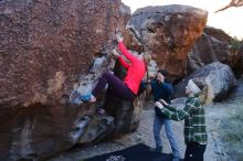 Bouldering in Hueco Tanks on 12/19/2019 with Blue Lizard Climbing and Yoga  Filename: SRM_20191219_1046500.jpg Aperture: f/4.5 Shutter Speed: 1/250 Body: Canon EOS-1D Mark II Lens: Canon EF 16-35mm f/2.8 L