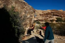 Bouldering in Hueco Tanks on 12/19/2019 with Blue Lizard Climbing and Yoga  Filename: SRM_20191219_1049150.jpg Aperture: f/8.0 Shutter Speed: 1/500 Body: Canon EOS-1D Mark II Lens: Canon EF 16-35mm f/2.8 L