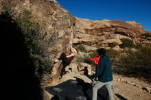 Bouldering in Hueco Tanks on 12/19/2019 with Blue Lizard Climbing and Yoga  Filename: SRM_20191219_1049180.jpg Aperture: f/7.1 Shutter Speed: 1/500 Body: Canon EOS-1D Mark II Lens: Canon EF 16-35mm f/2.8 L