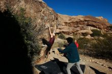 Bouldering in Hueco Tanks on 12/19/2019 with Blue Lizard Climbing and Yoga  Filename: SRM_20191219_1049190.jpg Aperture: f/7.1 Shutter Speed: 1/500 Body: Canon EOS-1D Mark II Lens: Canon EF 16-35mm f/2.8 L