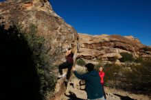 Bouldering in Hueco Tanks on 12/19/2019 with Blue Lizard Climbing and Yoga  Filename: SRM_20191219_1049240.jpg Aperture: f/8.0 Shutter Speed: 1/500 Body: Canon EOS-1D Mark II Lens: Canon EF 16-35mm f/2.8 L